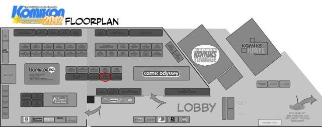 Komikon floorplan