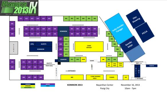 Komikon 2013 floorplan